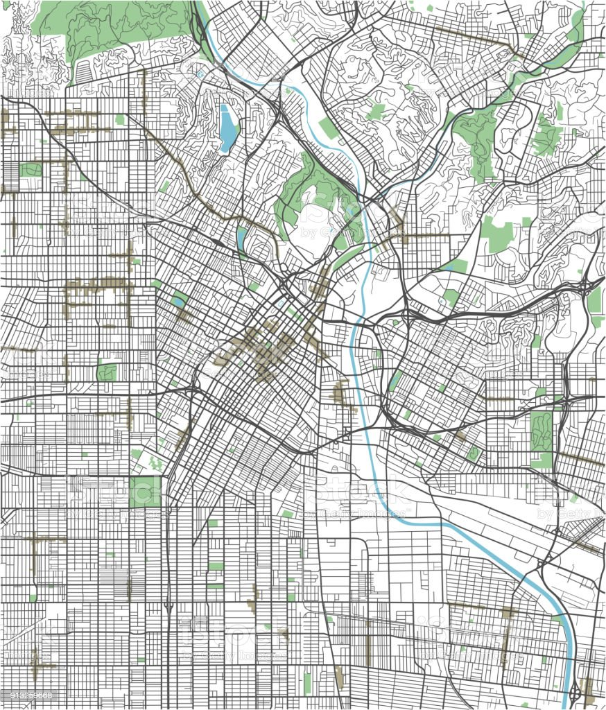 Colorful Los Angeles Vector City Map Stock Illustration ... on hand drawn city map, design city map, city center map, dragon city map, graphic city map, imperial city map, new york city road map, photoshop tutorial city map, art city map, hudson city map, tech city map, custom city map, mega city map, eagle city map,