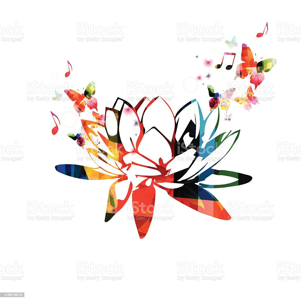 Colorful lotus flower design stock vector art more images of 2015 colorful lotus flower design royalty free colorful lotus flower design stock vector art amp izmirmasajfo