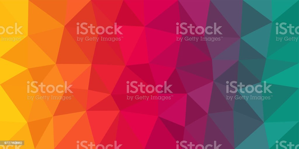 Colorful Low Poly Vector Background - Royalty-free Abstrato arte vetorial