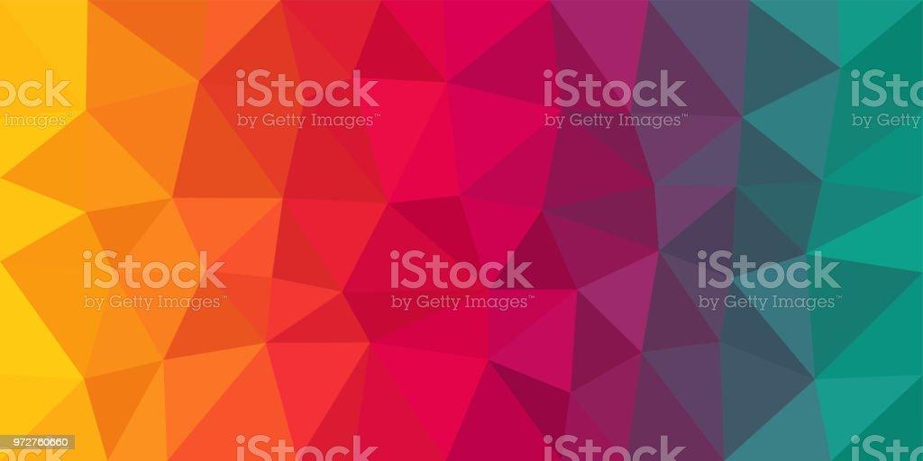 Bunte Low Poly-Vektor-Hintergrund - Lizenzfrei Abstrakt Vektorgrafik