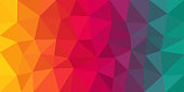 Colorful low poly vector gradient background. Polygonal texture, good as a cell phone, marketing material, or website backdrop. All polygons are in separate layers.