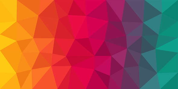Colorful Low Poly Vector Background