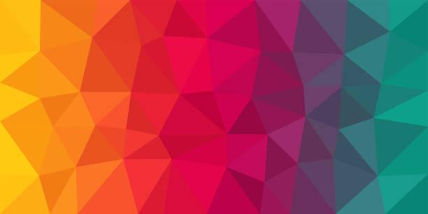 kolorowe tło wektorowe low poly - kolory stock illustrations