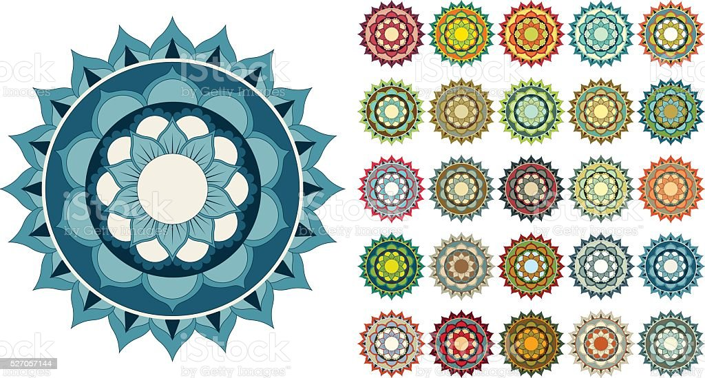 Colorful Mandala Design Stock Illustration Download Image Now