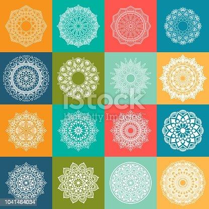 Colorful mandala. Round Circular ornament pattern vector