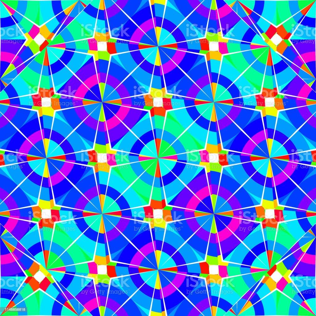 五顏六色的曼陀羅東方裝飾圖案背景壁紙紡織印花和時尚包裝的向量插圖向量圖形及更多光譜圖片 Istock