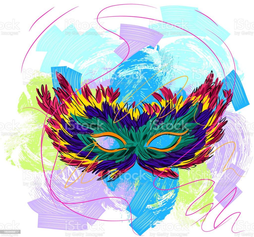 Colorful Mardi gras mask royalty-free stock vector art