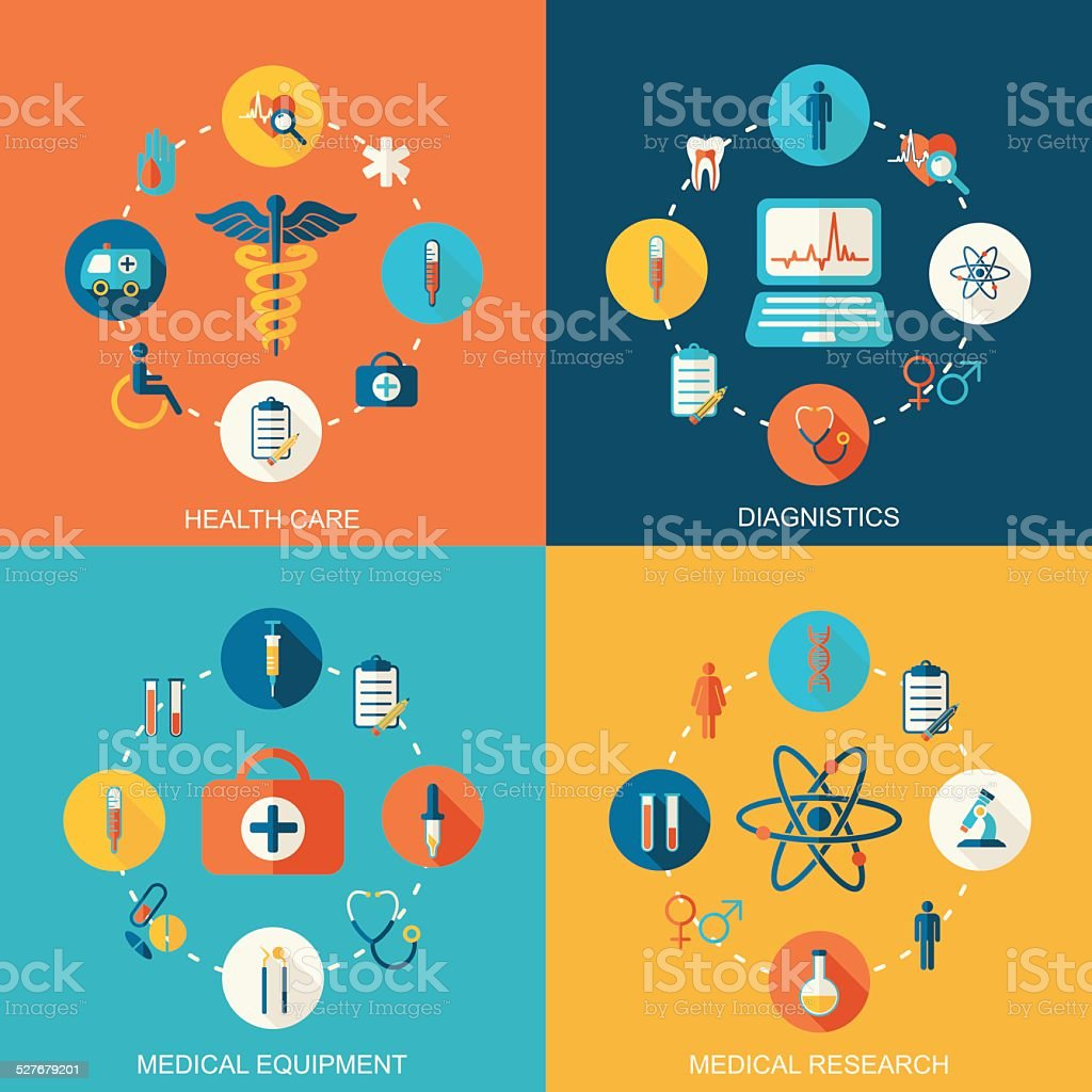 Colorful Medical vector background vector art illustration