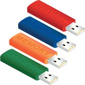 Standard looking colorful memory sticks. Pick your favorite color or use them all.