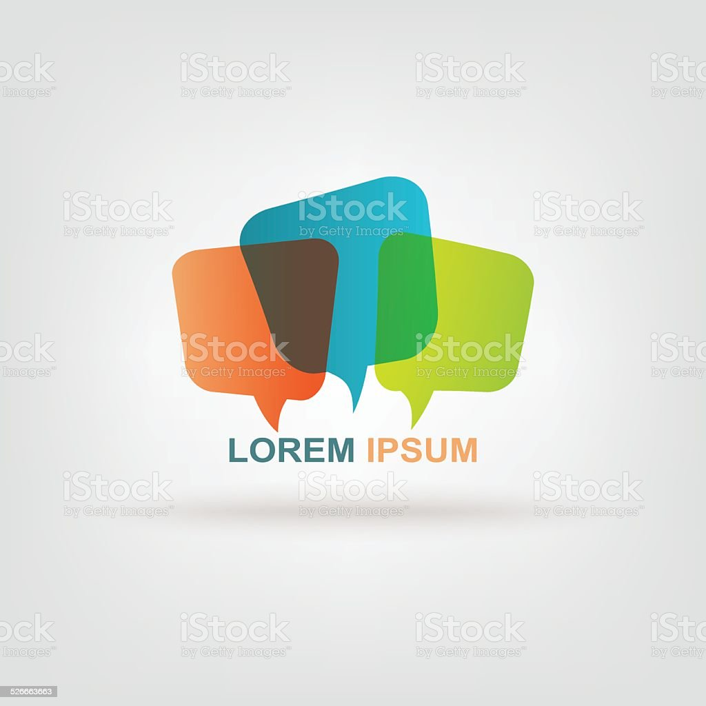 Colorful message chat vector art illustration