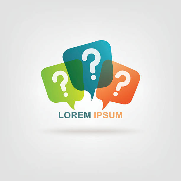 stockillustraties, clipart, cartoons en iconen met colorful message with question mark sign - question