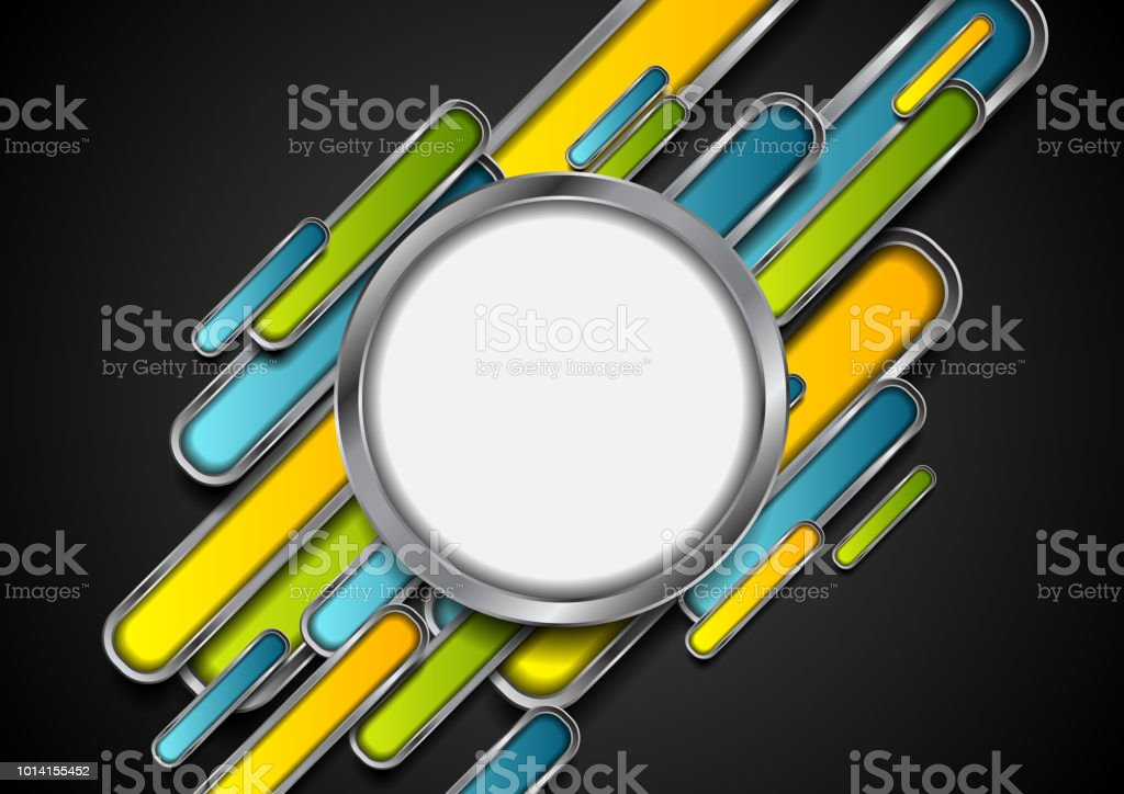 Colorful metallic technology abstract background vector art illustration