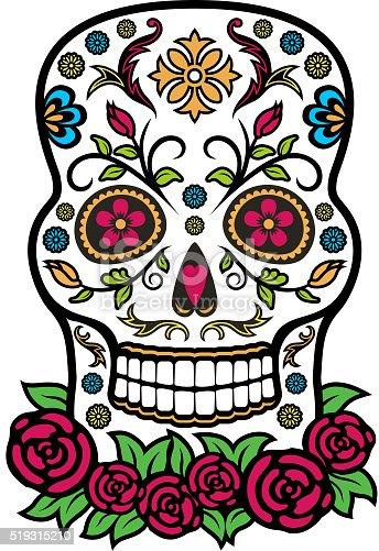 Colorful Mexican Sugar Skull