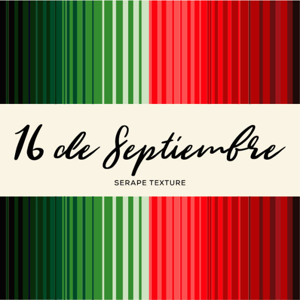 Colorful Mexican Traditional Holiday Sarape Composition – Copy Space Colorful Mexican Traditional Holiday Sarape Composition – Copy Space serape stock illustrations
