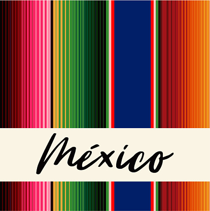 Colorful Mexican Traditional Sarape Composition – Copy Space
