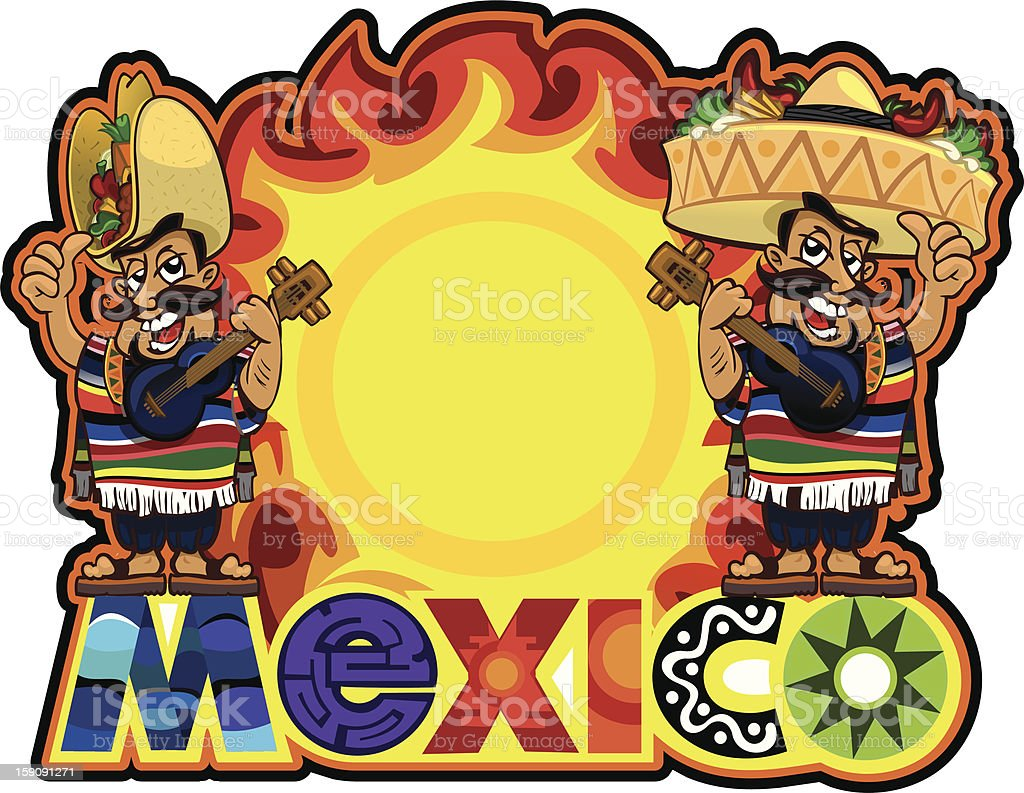 Colorful Mexico illustration template royalty-free colorful mexico illustration template stock vector art & more images of black color