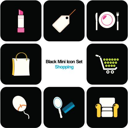 Colorful Mini Icon Set : Shopping