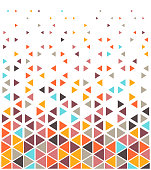 Decorative and minimal mosaic vector pattern illustration. Abstract background design with vibrant colors of ...