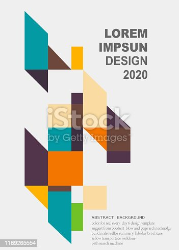 colorful minimalism geometric pattern background for design