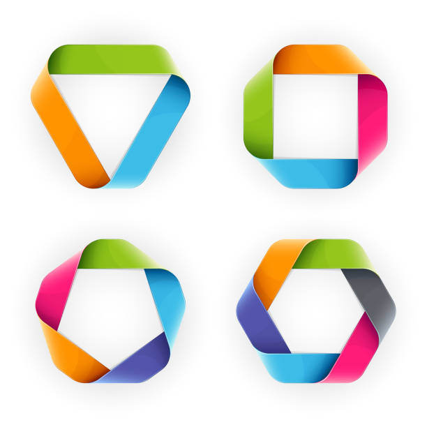 Colorful Mobius Strip vector art illustration
