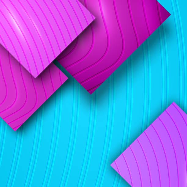 stockillustraties, clipart, cartoons en iconen met 3d kleurrijke moderne achtergrond met gegraveerd effect - stickers met relief