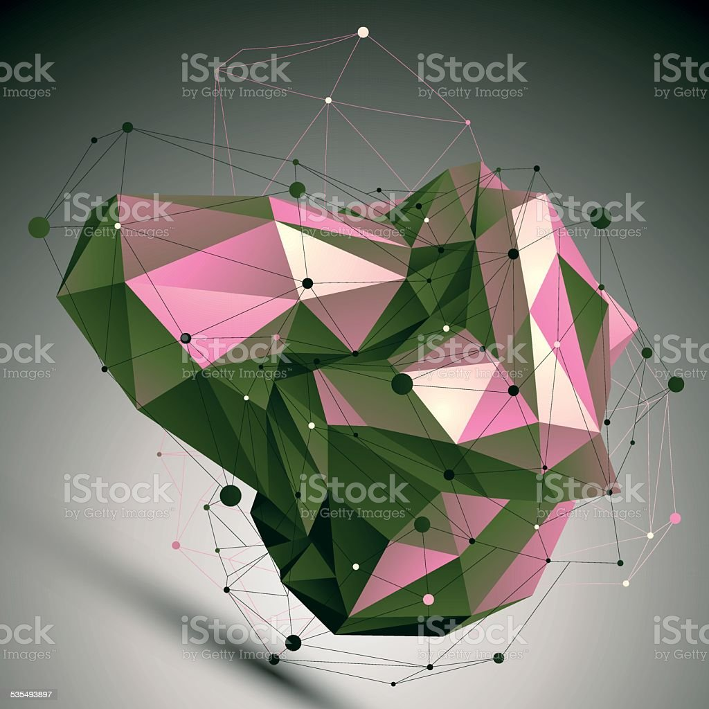 Colorful modern digital technology style, technology abstract vector art illustration