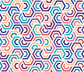 Decorative and colorful geometric vector pattern illustration. Abstract background design with vibrant colors.
