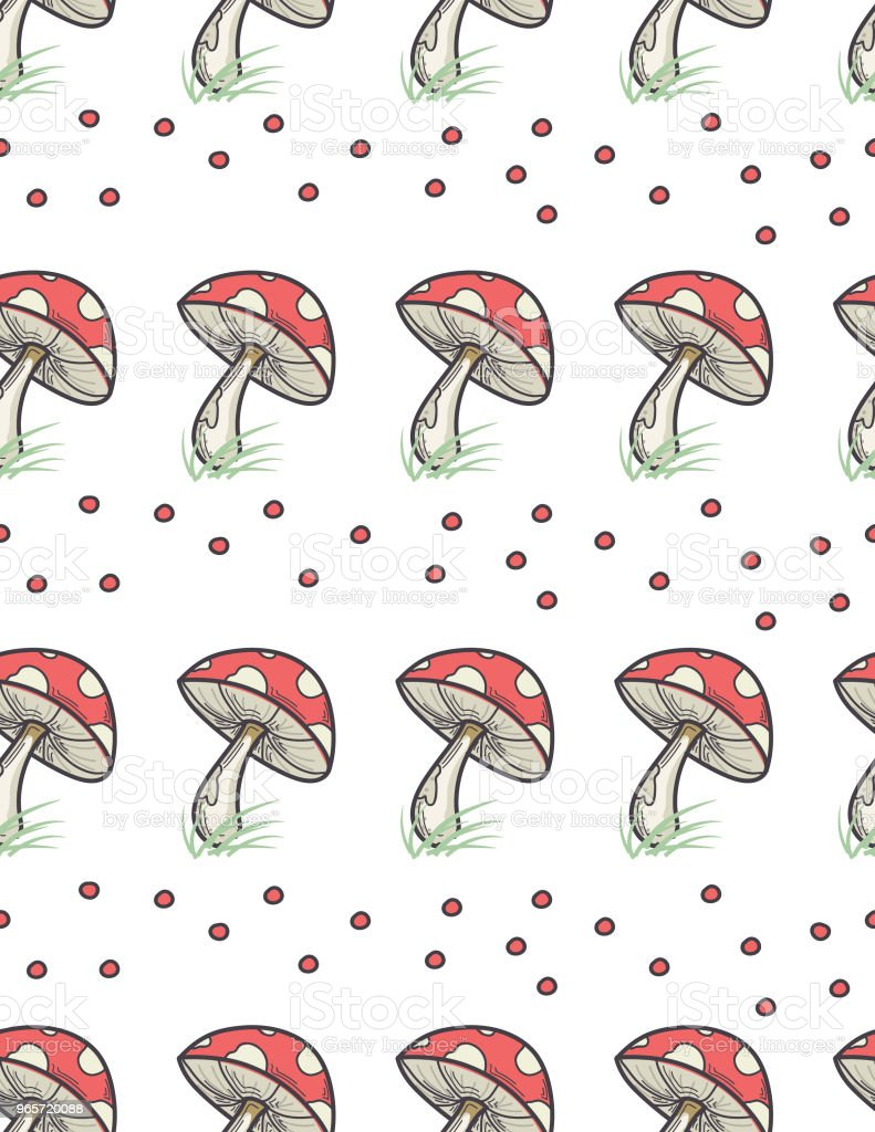 Colorful Mushroom Pattern - Royalty-free Backgrounds stock vector