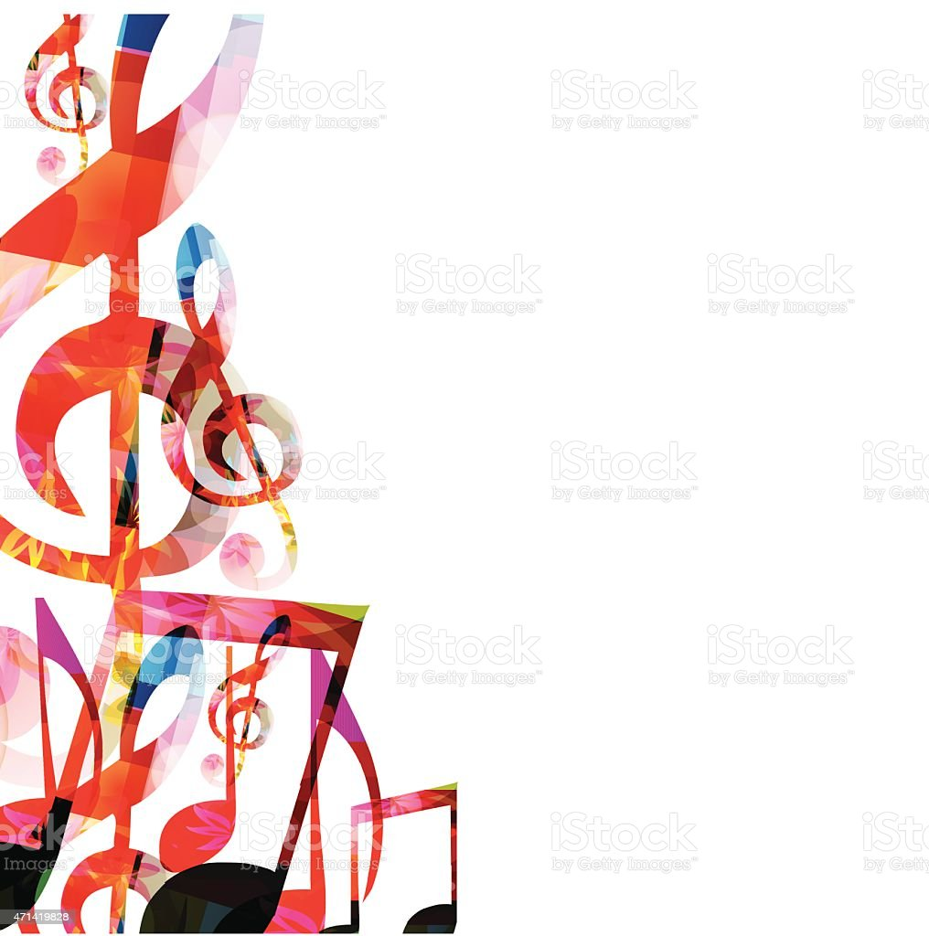 Colorful music background vector art illustration