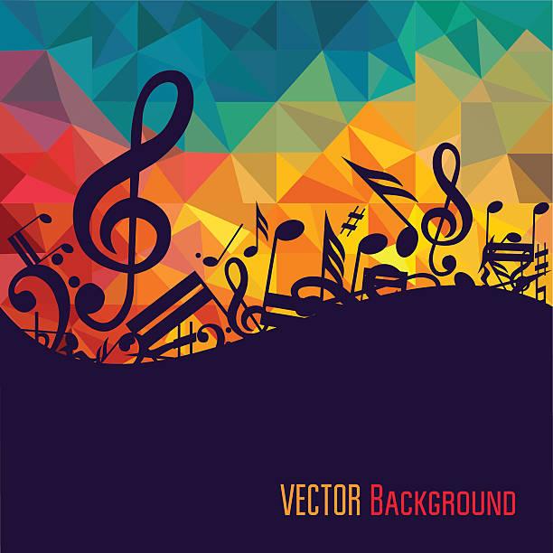 kolorowy muzyka tła. - instrument muzyczny stock illustrations