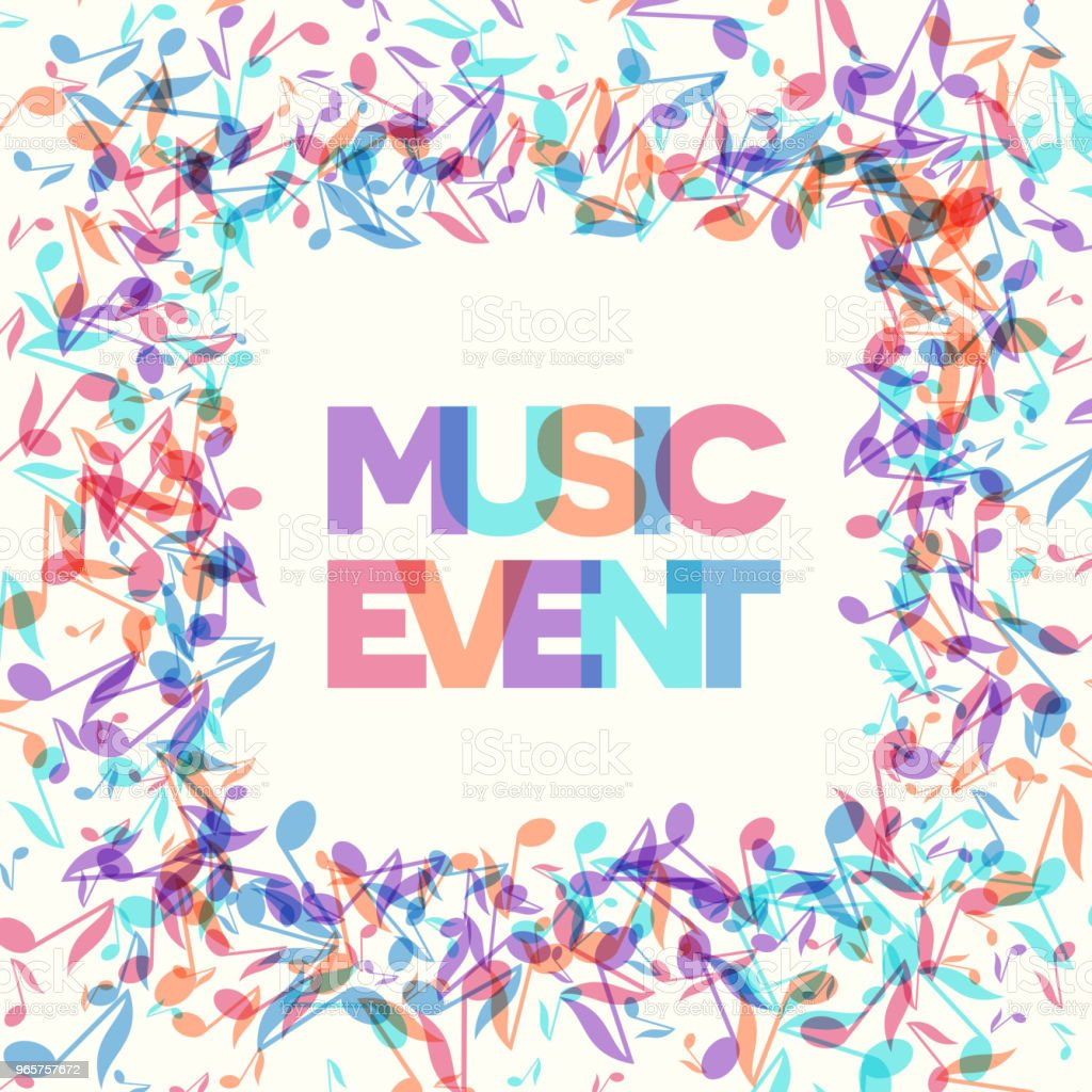 Colorful Music Event notes background. Vector Illustration - Royalty-free Abstract stock vector