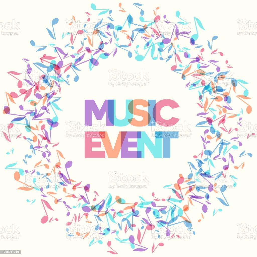 Kleurrijke muziekevenement Notitieachtergronden. Vectorillustratie - Royalty-free Abstract vectorkunst