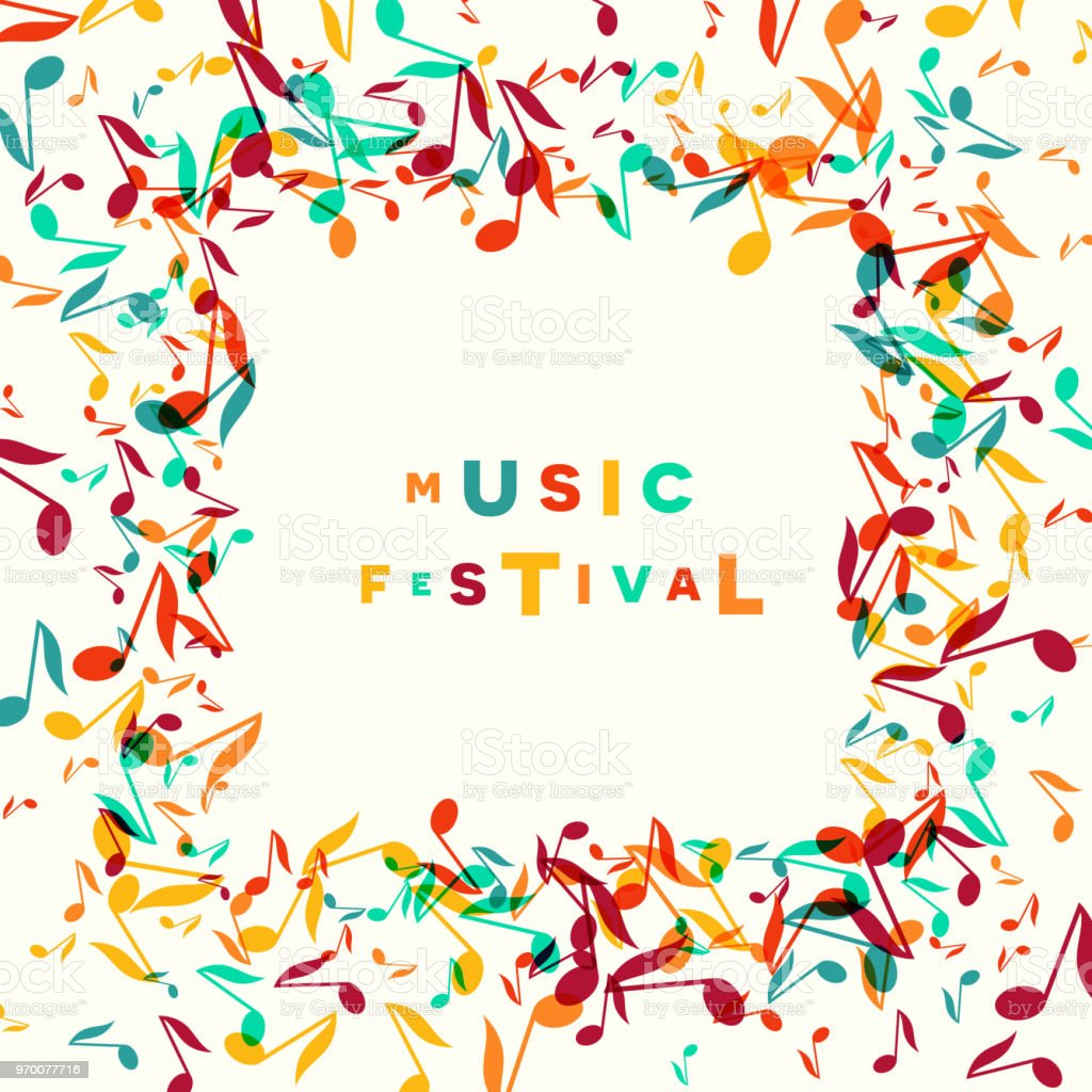 Colorful Music Festival notes background. Vector Illustration vector art illustration