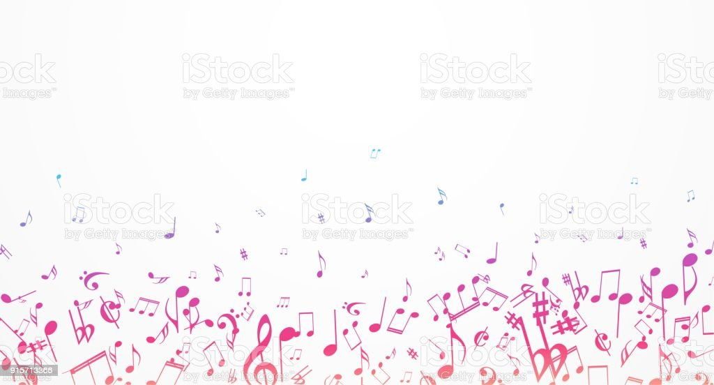 Colorful Music Notes Background Stock Vector Art More Images Of