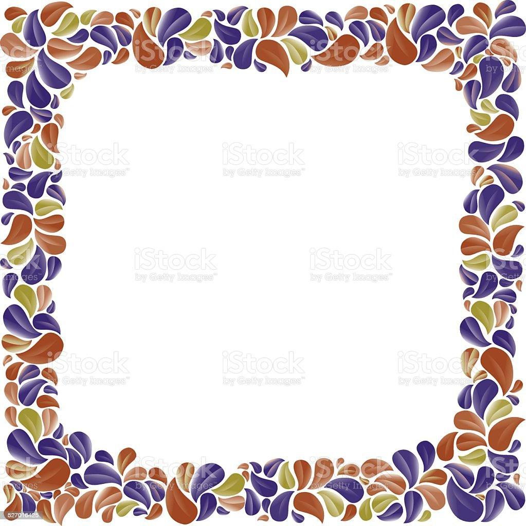 Ilustraci n de colorido y marcos decorativos natural con - Marcos decorativos ...