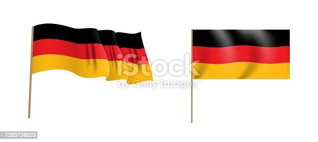 istock Colorful naturalistic waving Bundesrepublik Deutschland flag. Vector Illustration 1283726023