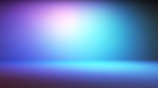 Colorful neon gradient studio backdrop
