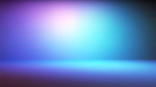 Colorful neon gradient studio backdrop Colorful neon gradient studio backdrop with empty space for your content studio stock illustrations