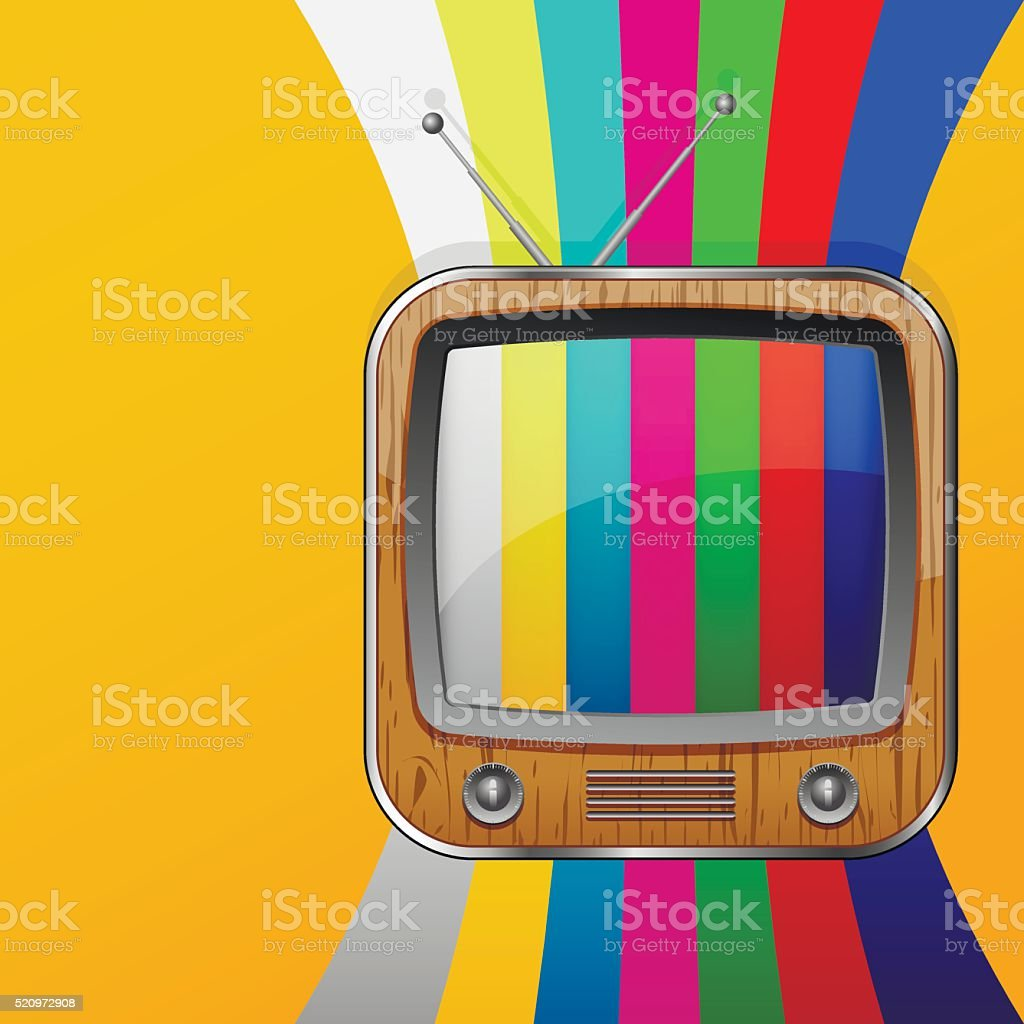 Tv Colorful No Signal Background Stock Vector Art & More Images of