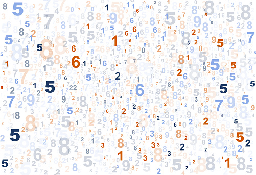 random numbers pattern falling from above