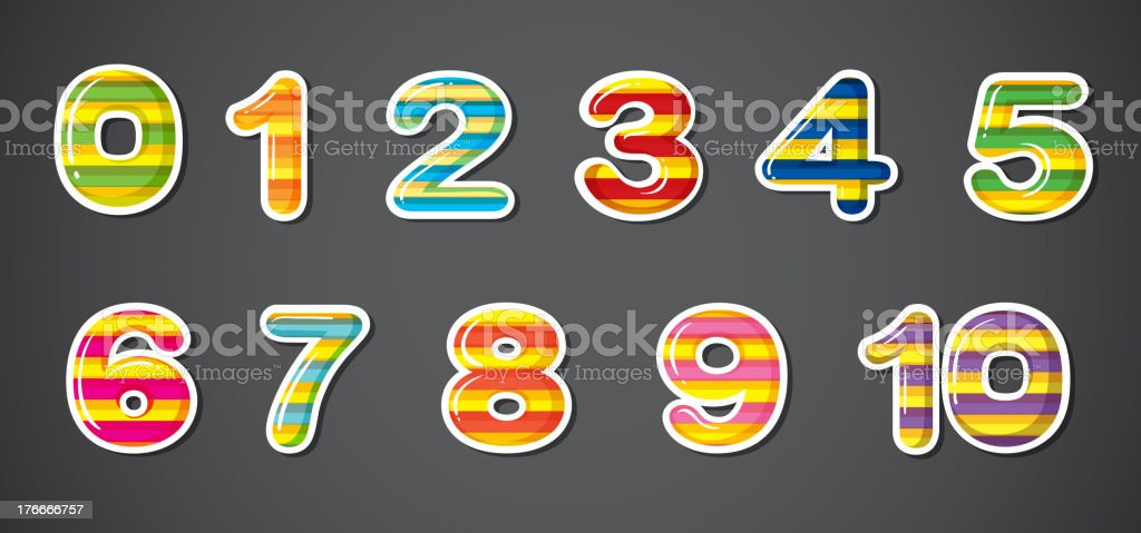 Colorful numbers royalty-free colorful numbers stock vector art & more images of algebra
