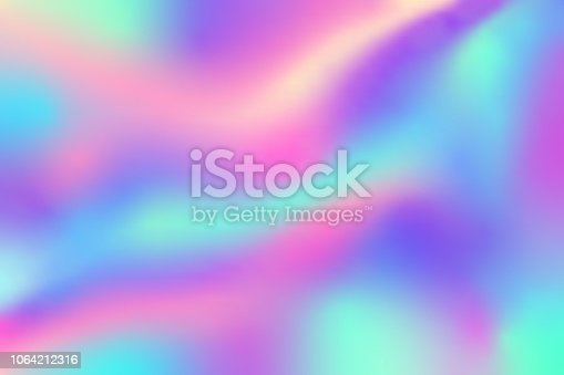 colorful of holographic background texture in pastel or neon color design, Gift card, fashion. vector illustration