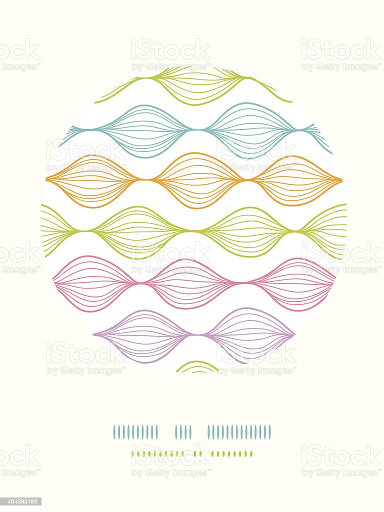 Colorful ogee horizontal striped circle decor pattern background royalty-free stock vector art