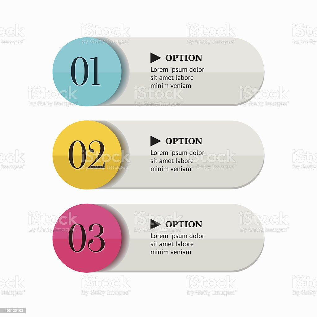 Colorful options banner template. royalty-free stock vector art