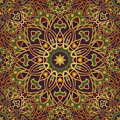 Colorful oriental ornament of mandalas. You can use this pattern for the shawl, carpet, cover, textile and other surfaces.