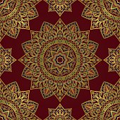 Colorful oriental ornament of mandalas. Template for the shawl, carpet, cover, textile and other surfaces.