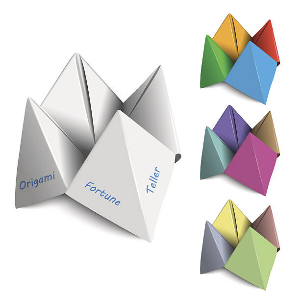 Royalty Free Fortune Teller Origami Clip Art Vector Images
