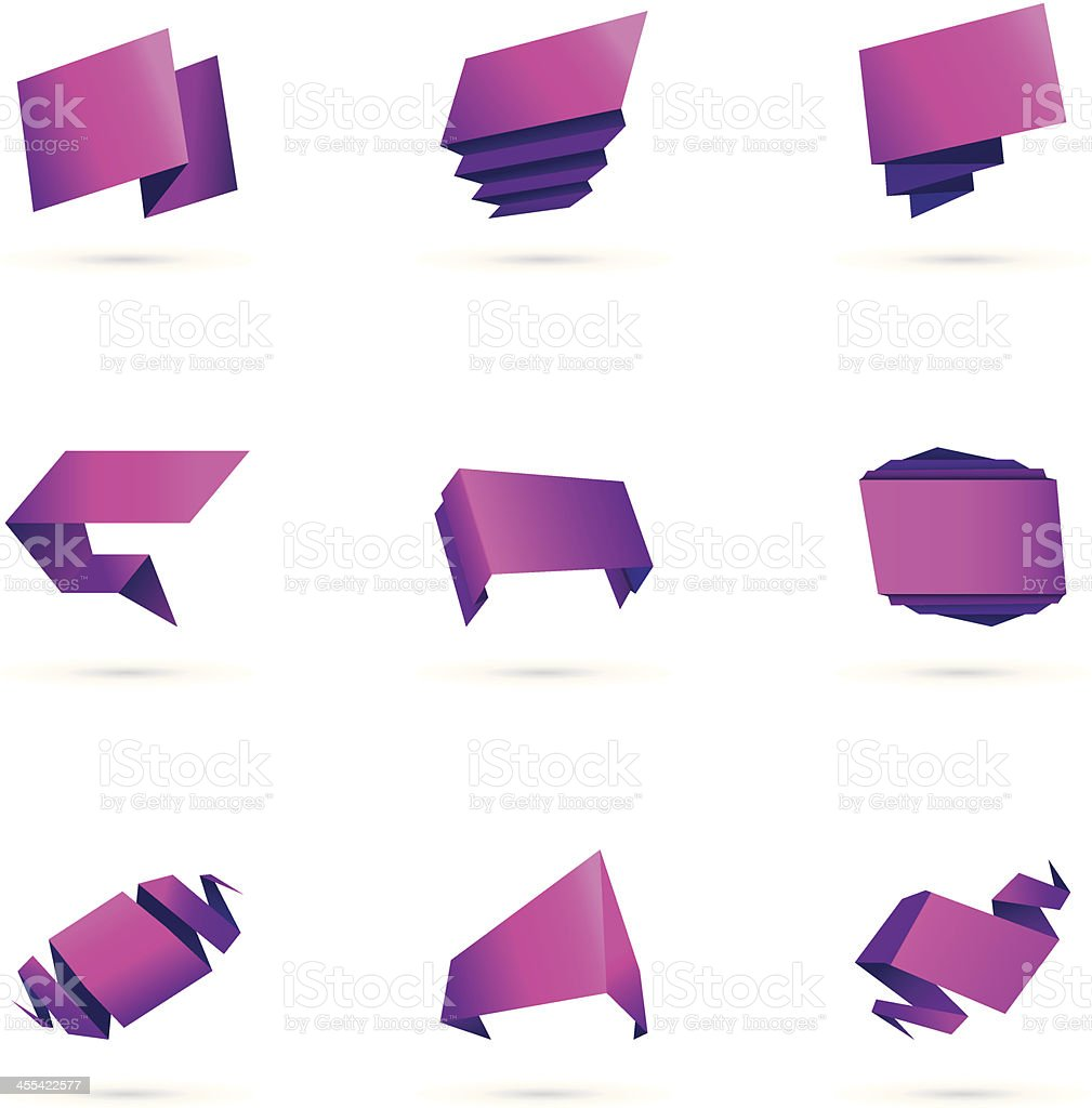 colorful origami sets royalty-free stock vector art