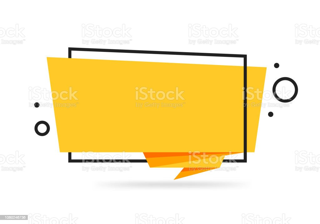 Colorful Origami style sticker and banner template design. Isolated on white background. Blank for your text, Web site and project colorful origami style sticker and banner template design isolated on white background blank for your text web site and project - immagini vettoriali stock e altre immagini di appiccicoso royalty-free