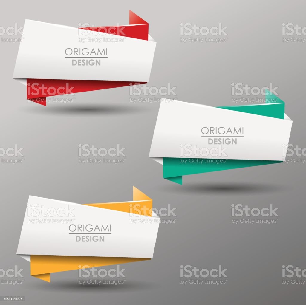 Colorful origami vector banners royalty-free colorful origami vector banners stock vector art & more images of abstract